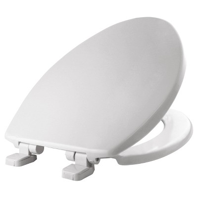 Elongated Plastic Toilet Seat with Whisper Close Hinge White - Mayfair by Bemis