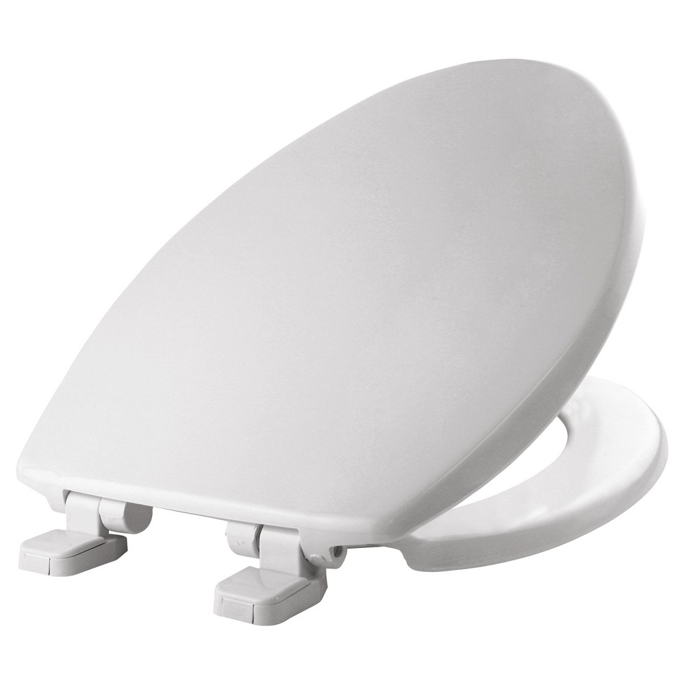 Image of Elongated Plastic Toilet Seat with Whisper Close Hinge White - Mayfair