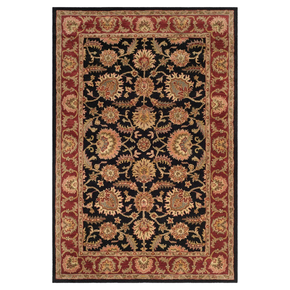 Navy/Red (Blue/Red) Botanical Tufted Area Rug - (6'X9') - Safavieh