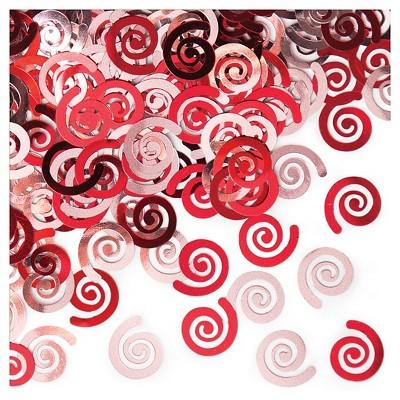 Classic Red Swirl Confetti
