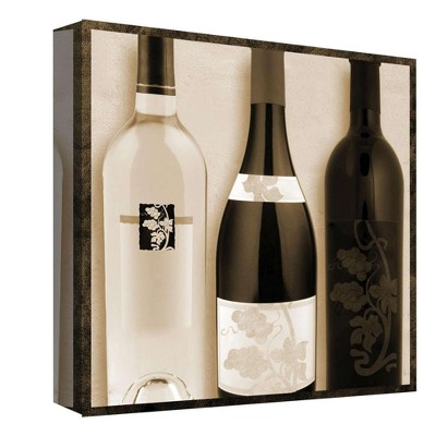 Wine Selection II Decorative Canvas Wall Art 16 x16  - PTM Images
