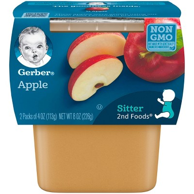 Gerber 2nd Foods Apples, 4oz, 2ct
