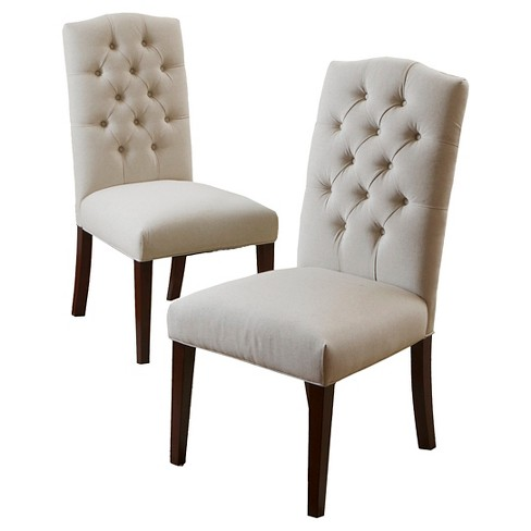 Crown Fabric Dining Chairs - Off-White (Set Of 2) - Christopher Knight Home