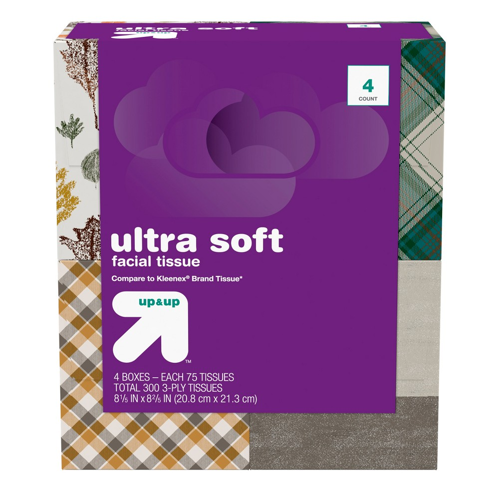 Facial Tissue 4ct - Up&Up
