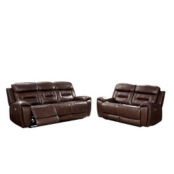 2pc Hewitt Sofa Set Brown - HOMES: Inside + Out