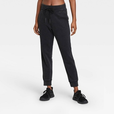 Women's Mid-Rise French Terry Acid Wash Jogger Pants - JoyLab™