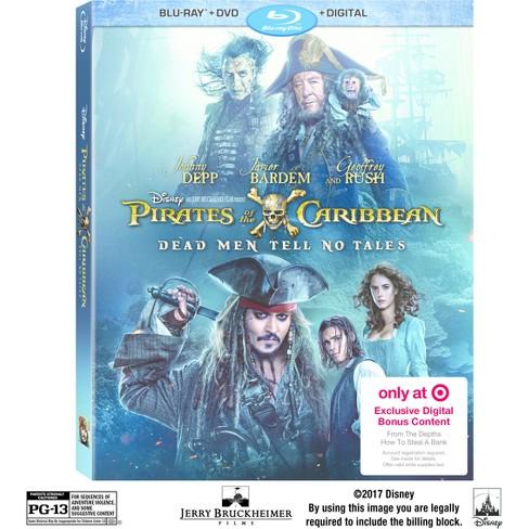 0b1066177e80c Blu-ray Pirates Of The Caribbean: Dead Men Tell No Tales Target Exclusive  (Blu-ray + DVD + Digital)