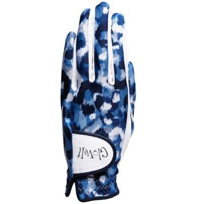 Glove It Women's Golf Glove Blue Leopard
