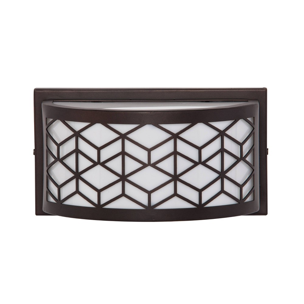 Rimea Outdoor Sconce Led Lamp Black/White (Includes Energy Efficient Light Bulb) - Aiden Lane