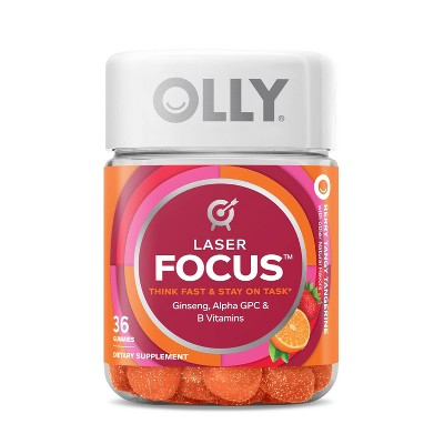 OLLY Laser Focus Gummies - Berry Tangerine - 36ct