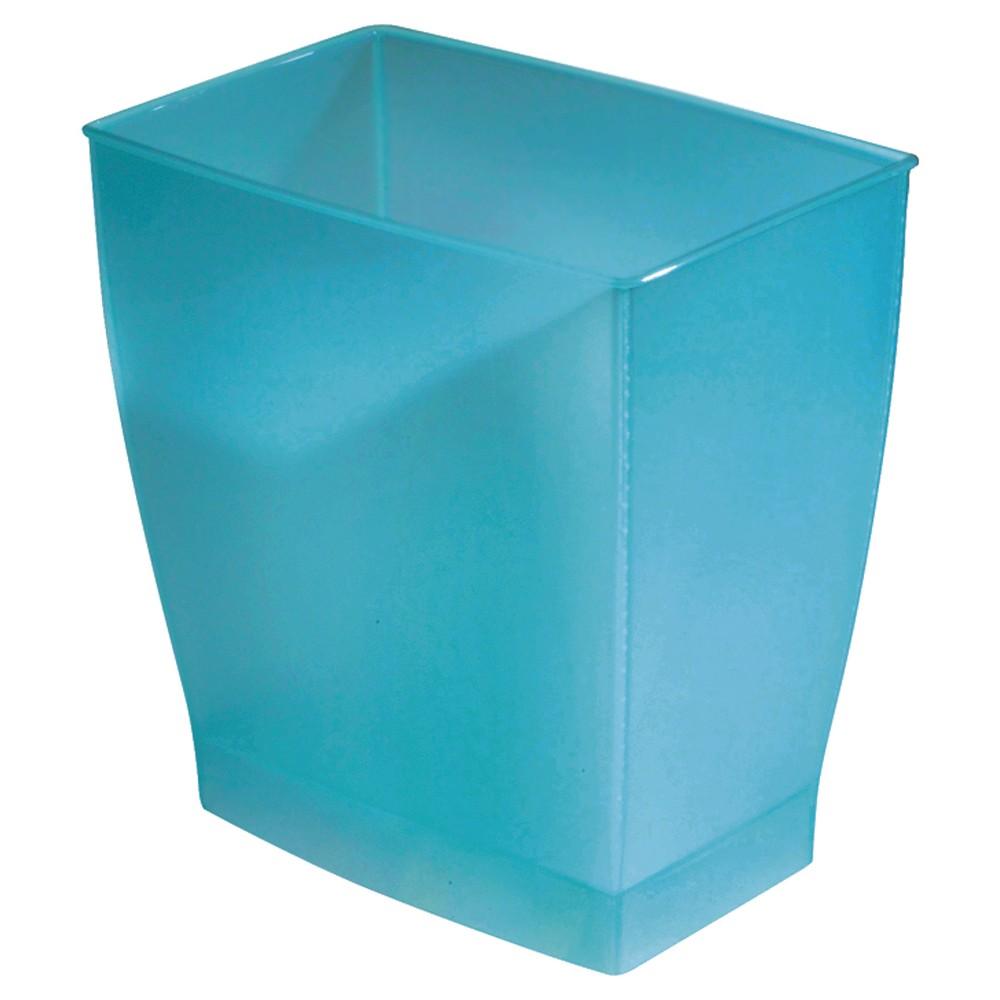 Image of InterDesign Bath & Spa Plastic Rectangular Wastebasket - Azure (11l)