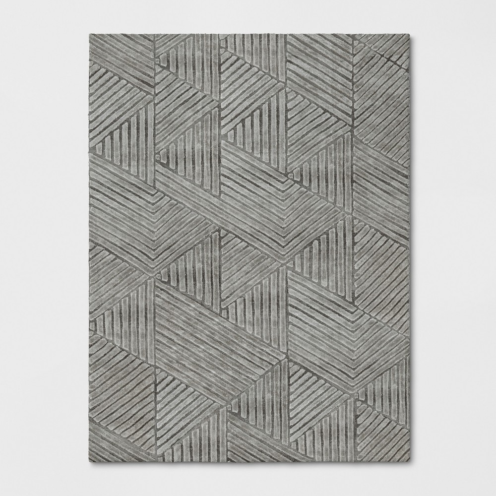 9'X12' Tufted Geometric Area Rug Gray - Project 62 was $629.99 now $314.99 (50.0% off)