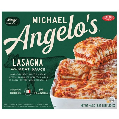 Michael Angelo's Large Family Size Frozen Lasagna with Meat Sauce - 46oz