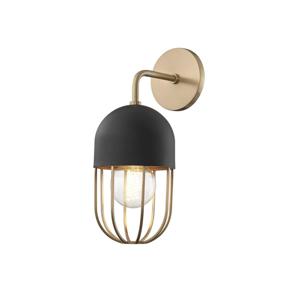 Haley 1-Light Wall Sconce Aged Brass/Black - Mitzi by Hudson Valley Coupons