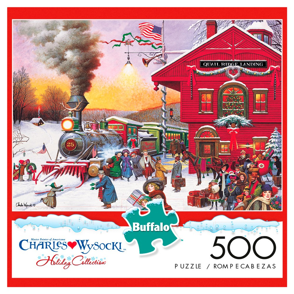 Buffalo Games Whistle Stop Christmas Jigsaw Puzzle 500pc