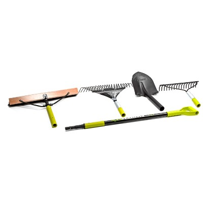 5pc SwitchSTIK 4-In-1 Interchangeable Tool System - Green - Sun Joe