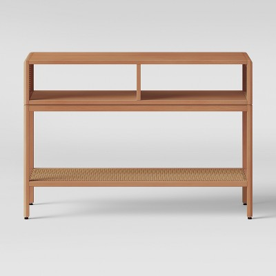 Minsmere Caned Console Table Natural Brown - Opalhouse™