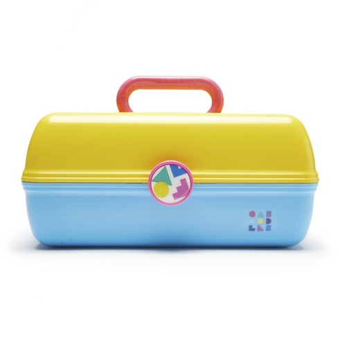 Caboodles On The Go Girl Case - Bright Yellow/Blue - image 1 of 3