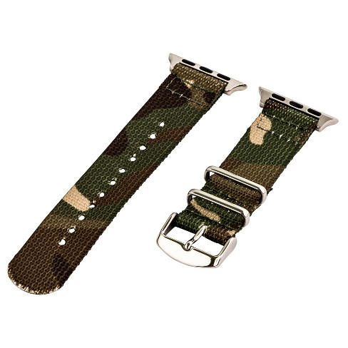 Clockwork Synergy Classic Nato 2 Apple Watch Band 38mm with Steel Adapter - Camo Army Green - image 1 of 1