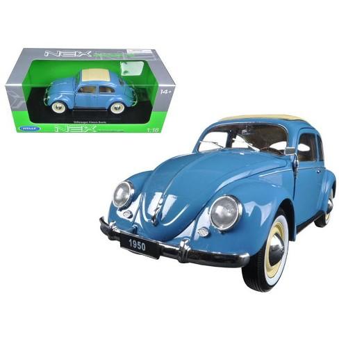 1950 Volkswagen Classic Old Beetle Split Window Blue 1/18 Diecast Model Car by Welly - image 1 of 1