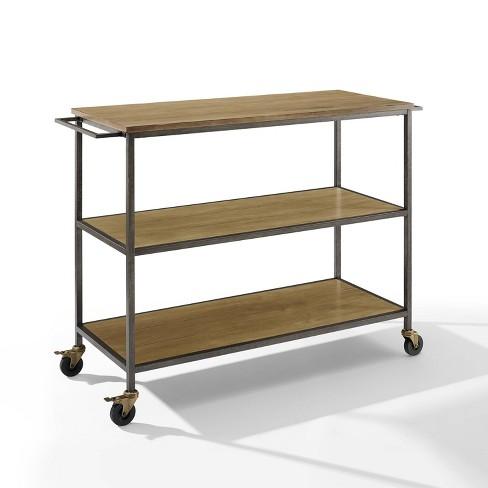 Brooke Kitchen Cart Washed Oak - Crosley - image 1 of 4