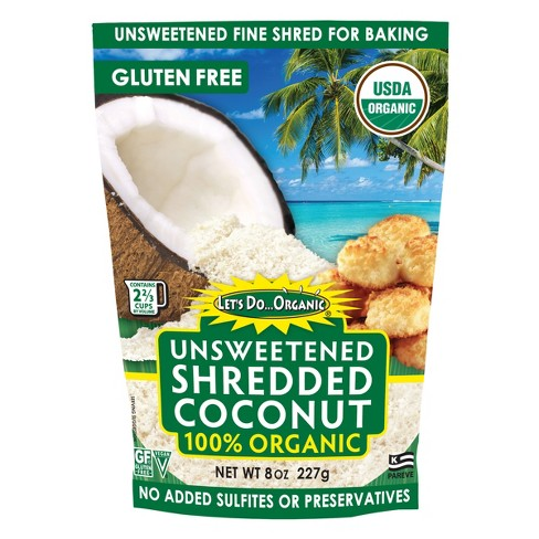 Let's Do Organic 100% Organic Shredded Coconut Unsweetened - 8oz - image 1 of 4