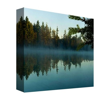 Lake Mist II Decorative Canvas Wall Art 16 x16  - PTM Images