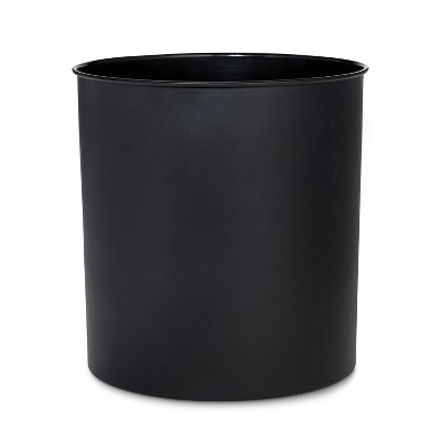 Solid Bathroom Wastebasket Can Black - Threshold™