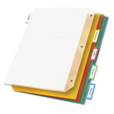 Cardinal Poly Ring Binder Pockets 11 x 8 1/2 Letter Assorted Colors 5/Pack 84009