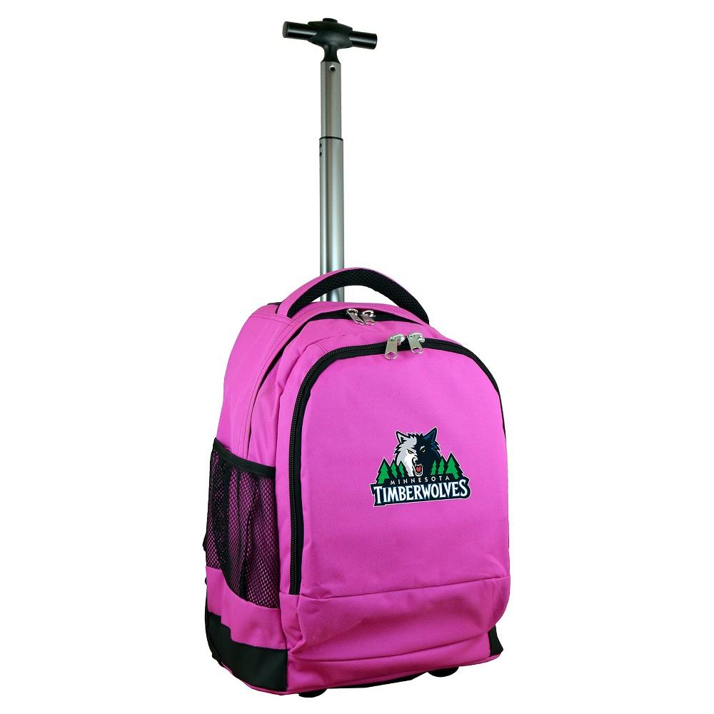 NBA Minnesota Timberwolves Mojo Premium Wheeled Backpack - Pink