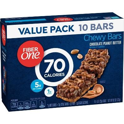 Fiber One 70 Calorie Chocolate Peanut Butter Granola Bar – 10ct
