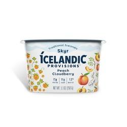 Icelandic Provisions Peach & Cloudberry Skyr Yogurt - 5.3oz