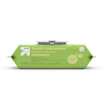 Fresh Cucumber Cloth-like Baby Wipes - 72ct - Up&Up™