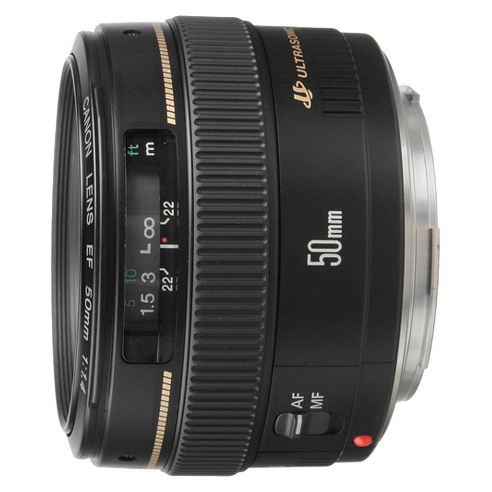 Canon EF 50mm f/1.4 USM Standard-Medium Telephoto Lens for Canon SLR Cameras - Black (2515A003)