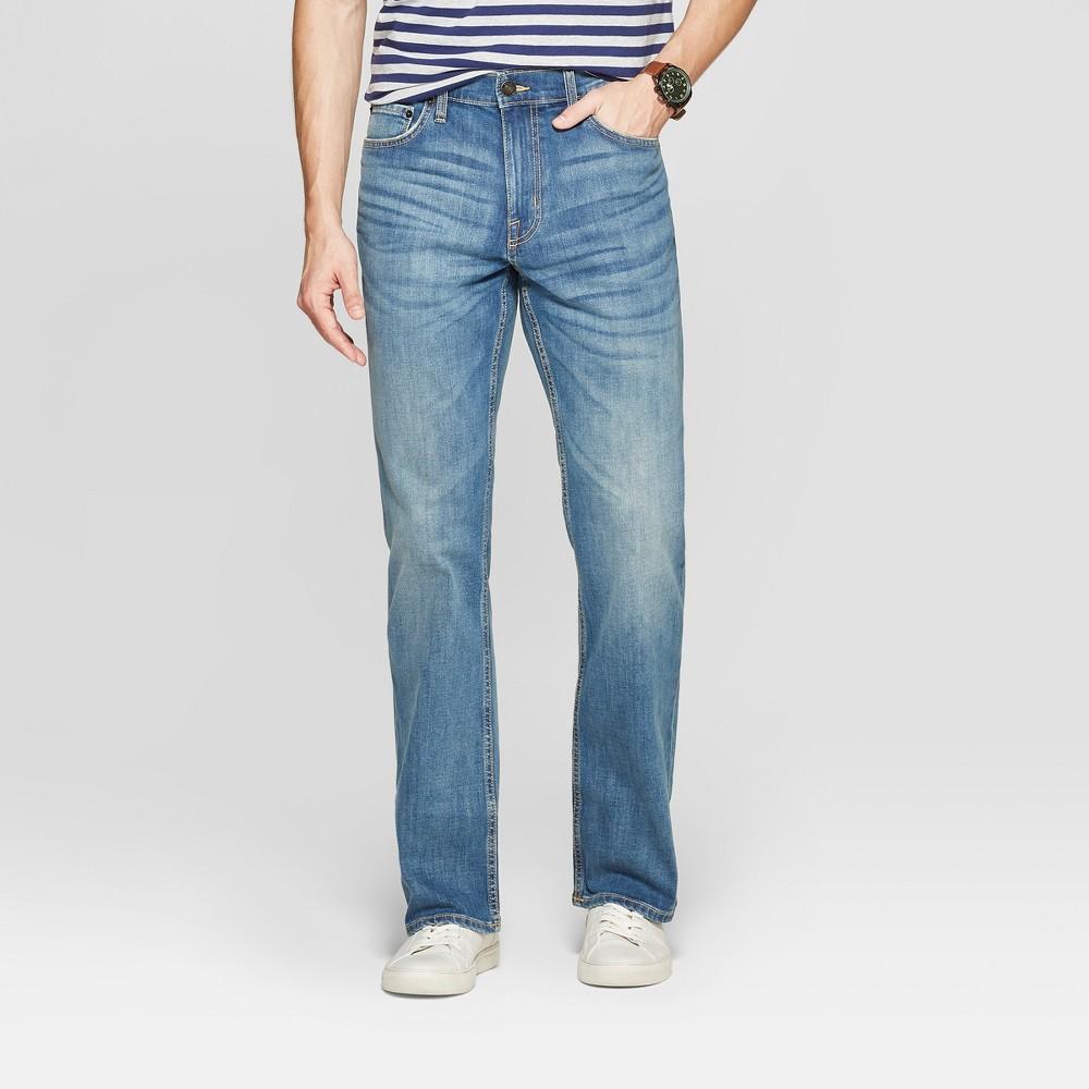 Men's 32 Bootcut Jeans - Goodfellow & Co Medium Blue 28x32