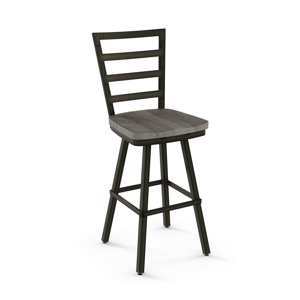 "Image of ""25.25"""" Amisco Prescot Counter Stool Light Gray"""