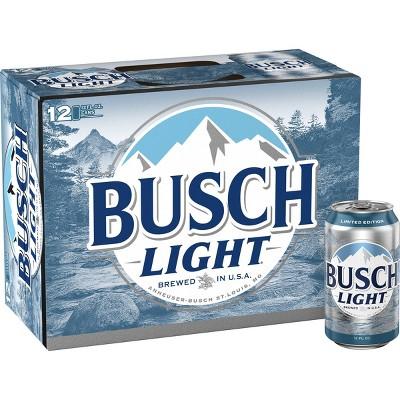 Busch Light Beer - 12pk/12 fl oz Cans