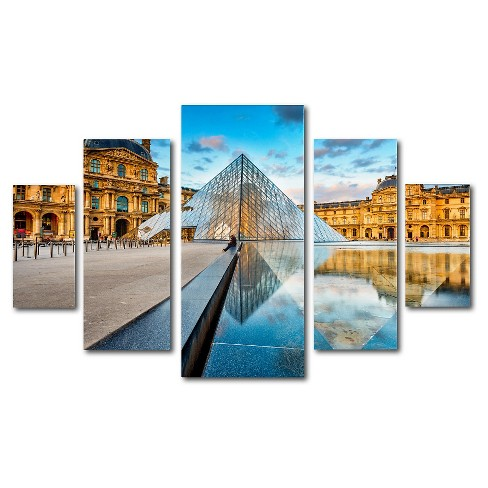 'Louvre' by Mathieu Rivrin Ready to Hang Multi Panel Art Set - image 1 of 1