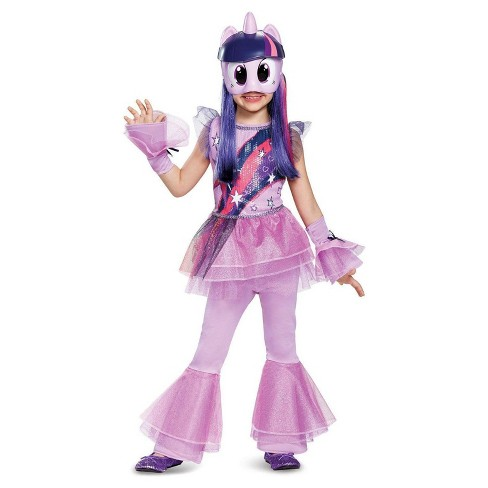 girls my little pony twilight sparkle deluxe toddler costume 3t 4t