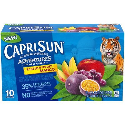 Capri Sun Adventures Passion Fruit & Mango - 10pk/6 fl oz Pouches