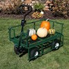 Sunnydaze Decor Steel Heavy-Duty Dumping Utility Cart with Removable Sides - Green - 660-lb Capacity - image 4 of 4