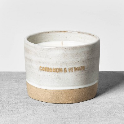 9oz Cardamom & Vetiver Reactive Glaze Ceramic Container Candle - Hearth & Hand™ with Magnolia