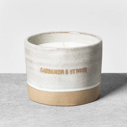 9.3oz Reactive Glaze Ceramic Container Candle Cardamom & Vetiver - Hearth & Hand™ with Magnolia - image 1 of 3