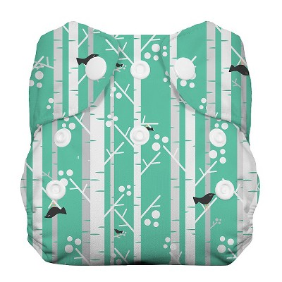 Thirsties All-in-One Snap Reusable Diaper, Newborn - Aspen Grove
