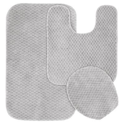 3pc Cabernet Nylon Washable Bath Set Platinum Gray - Garland
