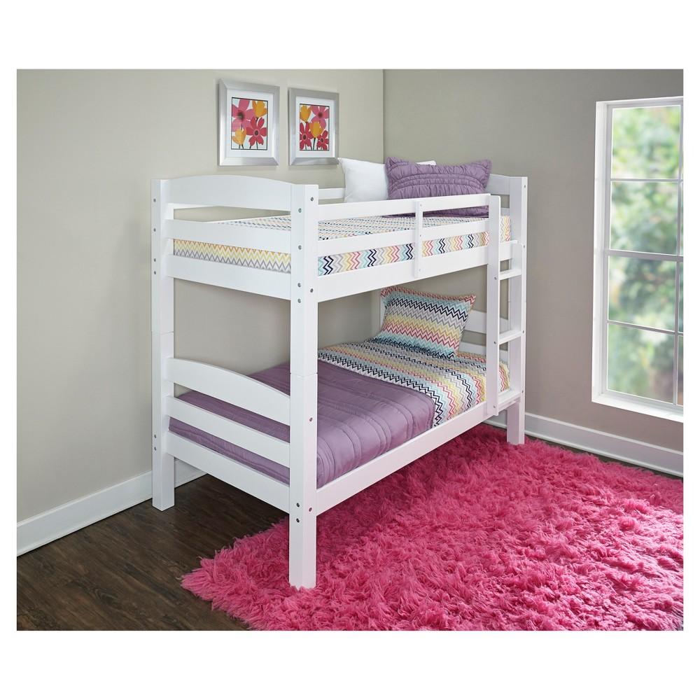 Twin Over Twin Avery Bunk Bed White - Powell Company