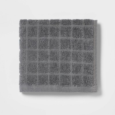 Grid Texture Washcloth Pigeon Gray - Room Essentials™