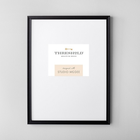 """18"""" x 24"""" Matted to 8"""" x 10"""" Gallery Single Image Frame Black - Threshold™ designed with Studio McGee - image 1 of 4"""