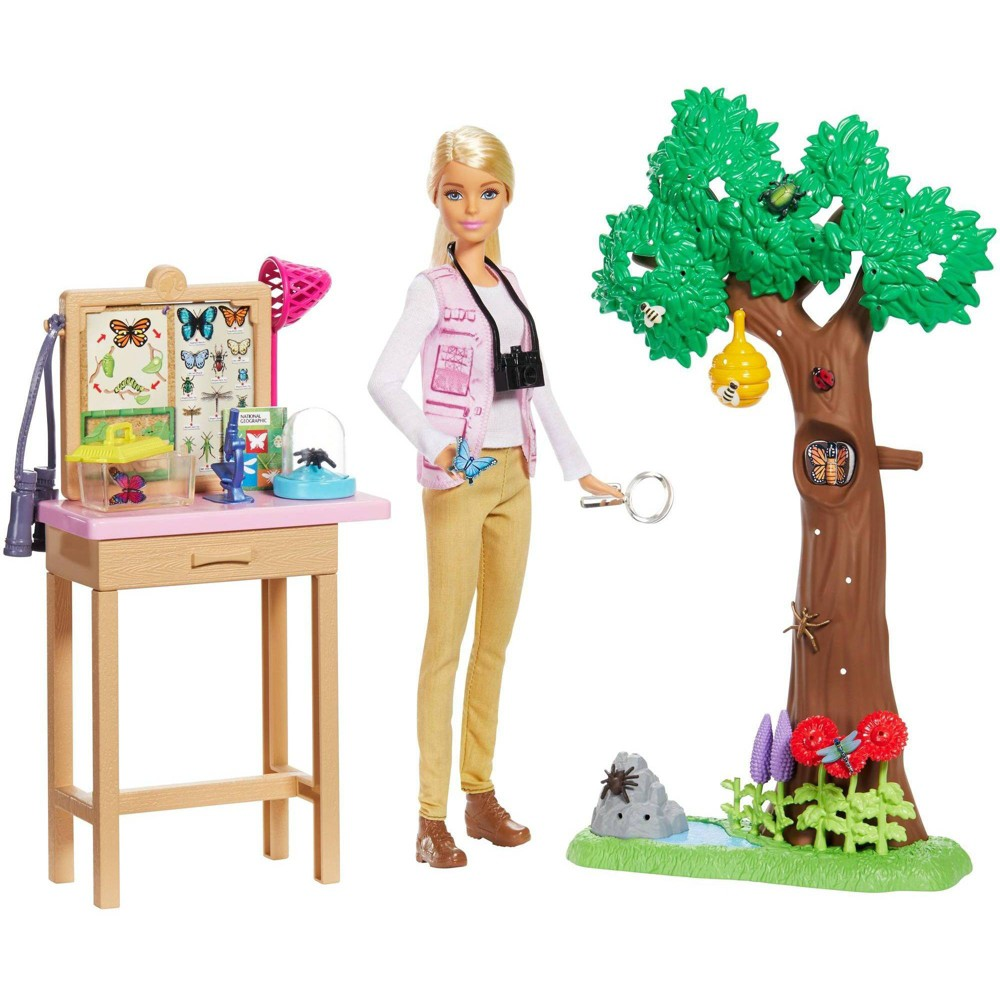 Barbie National Geographic Butterfly Scientist Playset