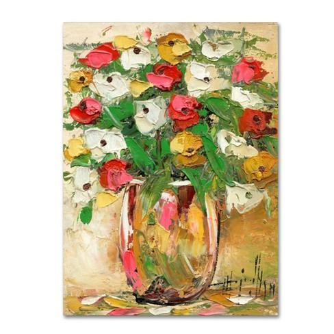Trademark Fine Art 24 X 18 Hai Odelia Spring Flowers In A Vase 7